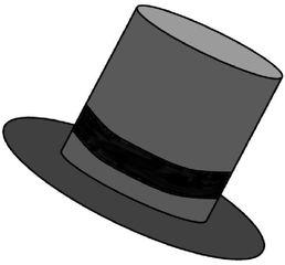 Zylinder schwarz - Zylinder, Hut, Kopfbedeckung, Krempe, Band, Wörter mit y, Anlaut Z, schwarz