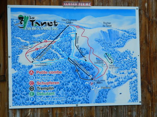 Le Tannet - Skiregion im Elsass - Karte, ski, piste, téléski, panneau