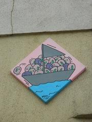 Street Art Bastek - Street art, Bastek, Graffiti, Stencil, Kunst, Mauerbilder, Graffito, Bild, Kunstform, Wandmalerei, Bild