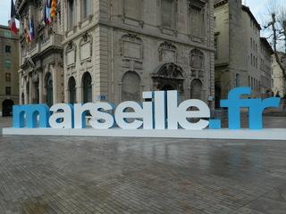 marseille.fr - Marseille, Buchstaben, blau, weiß