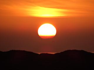 Sonnenuntergang über dem Meer - Winter, Sonnenuntergang, Nordsee, Meer, Sonnenball, Wattenmeer, Watt, St Peter, Ording, Düne, Dünen, Strand, Abendstimmung, Dämmerung, Norddeutschland
