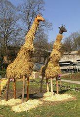 Skulptur aus Stroh #3 - Skulptur, Stroh, Strohskulptur, Kunst, Kunstwerk, Giraffe
