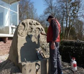 Skulptur aus Sand - Skulptur, Sand, Sandskulptur, Kunst, Kunstwerk, Bildhauerei