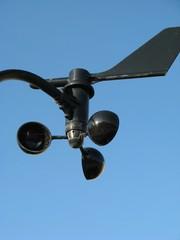 Anemometer - Schalenkreuzanemometer, Anemometer, Messgerät, Windmesser, Windgeschwindigkeit, Geschwindigkeit, Meteorologie, Wetter, Wind, Technik