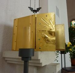 Tabernakel - Tabernakel, Liturgie, Aufbewahrungsort, Kirche, Hostie