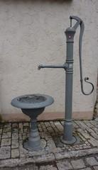 Schwengelpumpe - Pumpe, Wasser Schwengelpumpe, Schwengel, einarmiger Hebel, Kolbenpumpe