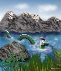 Ungeheuer von Loch Ness - See, Loch Ness, Nessie, Seemonster, Monster, Ungeheuer, Fabelwesen, Schottland, Mythos, Seeungeheuer, Sage