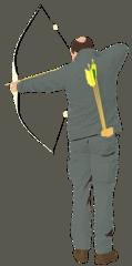 Bogenschütze - Bogenschießen, Bogensport, Schießsport, Sport, Sportgerät, Pfeil, Bogen, Sehne, Körperhaltung, Freizeit, Hobby, Schießsportdisziplin, Olympische Sportart, Präzisionssportart