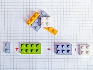 Mathematik mit Lego 2# - Addition, Gleichung, LEGO-Steine, spielen, rechnen, Mathematik, forschen, kombinieren, vergleichen, Gleichung