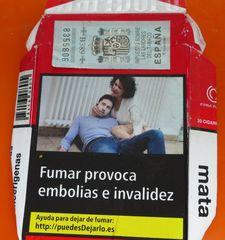 Fumar mata #1 - Zigaretten, rauchen, gefährlich, Warnung, Hinweis, Gesundheit, salud, fumar, matar, autoridades, sanitarias, cigarillos, embolias, invalidez