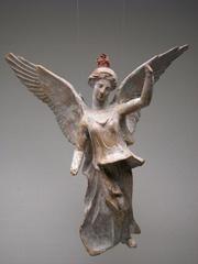 Nike - die griechische Siegesgöttin - Griechenland, Antike, Nike, Götter, Siegesgöttin, Peplos, Terrakotte, Keramik, Kunst, Kunsthandwerk