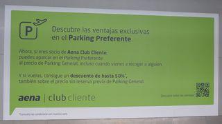 Parking preferente - ventaja, parking, volar, precio, descuento