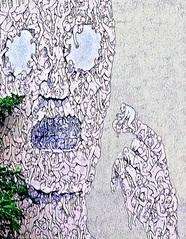 StreetArt #5 Ausschnitt - Urbanität, urbanes Leben, Kultur, Großstadt, Ethik, Lebensführung, sozial, Miteinander, Gesellschaft, Soziologie, Architektur, Städtebau, Graffiti, Wandel, Veränderung, StreetArt, Zeitgeist, Mural, Berlin