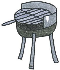 Grill - Grill, grillen, Sommer, Essen, Nahrung, Ernährung, braten, offenes Feuer, Grillrost, Garen Lebensmittel, Hitzequelle, Grundzubereitungsart