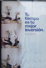 Werbeplakat: Familie - tiempo, inversión, familia, invertir