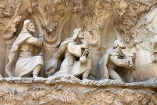 Heilige drei Könige - Sagrada Familia, Barcelona, Kirche, Kunst, Architektur, Könige, Heilige, Religion, Glaube, Krippe, Weihnachten, Gaudi