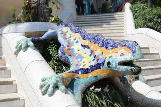 Eidechse - Eidechse, Mosaik, Stein, Gaudi, Barcelona, Kunst