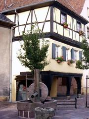 Elsass - Haus - Elsass, Detail eines Hauses