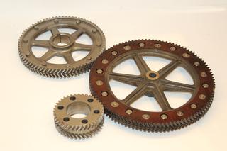 Zähnräder - Zahnrad, Technik, rund, Rad, Mechanik, Bewegung, Kraft Drehung, Übersetzung, Umdrehung, Getriebe