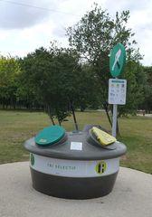 Müllbehälter - tri, sélectif, ordures, Müll, Mülltrennung, papier, plastique, verre, dépot, trier