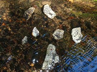 Nixen - Erzählanlass, Schreibanlass, Märchen, Mythen, Mythos, Nixe, Nixen, Wassernixen, Meerjungfrau, Wasser, Wald, Herrman Delkow, Stein