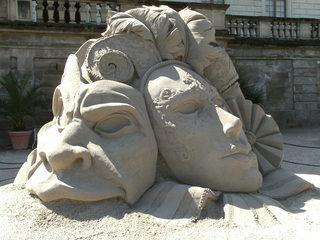 Skulptur aus Sand #3 - Skulptur, Sand, Sandskulptur, Kunst, Kunstwerk, Bildhauerei