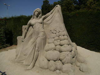 Skulptur aus Sand #5 - Skulptur, Sand, Sandskulptur, Kunst, Kunstwerk, Bildhauerei