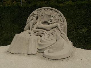 Skulptur aus Sand #6 - Skulptur, Sand, Sandskulptur, Kunst, Kunstwerk, Bildhauerei