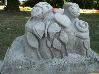 Skulptur aus Sand #8 - Skulptur, Sand, Sandskulptur, Kunst, Kunstwerk, Bildhauerei