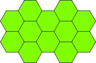 Muster von Sechsecken - Mathematik, Geometrie, Parkettierung, regelmäßige n-Ecke