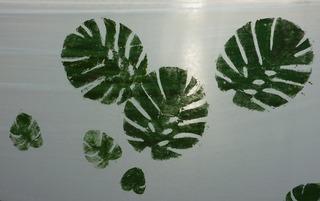 Blätterdruck #2 - Gestaltung, Blattdruck, Blätterdruck, Leinen, Farbe
