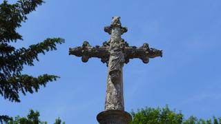 Maria mit dem Jesuskind.... - Maria, Jesus, Kreuz, Kreuzigung, Kalvarienberg, Wallfahrt, Andacht, Passion, Christus