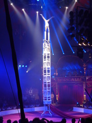 Akrobatik#6 - Zirkus, Wanderzirkus, Manege, Spielstätte, Vorführung, Akrobatik