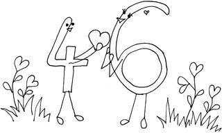 Verliebte Zahlen - Vier und Sechs - Verliebte Zahlen, Zehnerpaare, Zahlzerlegung, Mathelied