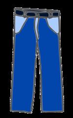Blaue Hose - pants, Hose, blau, Bekleidung, trousers, pantalon, clothes, vêtements, Kleidung, Beinkleid, Hosenbeine, Taschen, Gürtelschlaufen, Anlaut H
