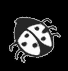 Marienkäfer SW - bug, Käfer, krabbeln, Insekt, Anlaut M, Glück, Glücksbringer, Silvester, Neujahr, Punkte, Wörter mit ä
