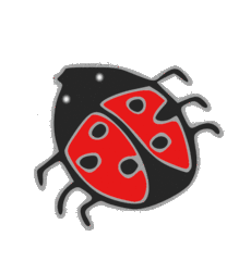 Marienkäfer col. - bug, Käfer, krabbeln, Insekt, Anlaut M, Glück, Glücksbringer, Silvester, Neujahr, Punkte