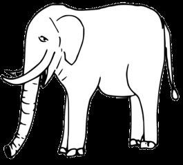 Elefant - elephant, Elefant, Dickhäuter, Dumbo, Afrika, Asien, Zoo, schwer, Rüssel, stehen, stark, Säugetier, Anlaut E, Stoßzahn