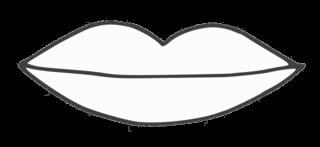 Lippen - lips, verliebt, Liebe, Love, Illustration, Glück, Symbol, Mund, Lippen, Lippe, Körperteil, Anlaut M, Anlaut L, küssen, Zeichnung