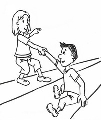 Helfen - helfen, zusammen, einander, behilflich sein, Hilfe leisten, die Hand reichen, unterstützen