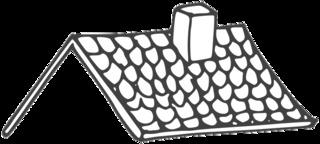 Dach - roof, Dach, Hausdach, Anlaut D, Konstruktion, Ziegeln, Dachziegeln, Schutz, Witterung, Schornstein, Anlaut Sch