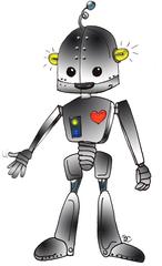 Roboter - Roboter, Technik, Maschine, Metall, Zukunft, Modern, Technologie, Herz, Android, Elektrizität, Illustration