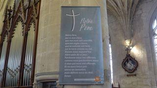 Vaterunser - französisch - notre pere, Vaterunser, Gebet, Christentum, Religion, Frömmigkeit, beten, priere, prier