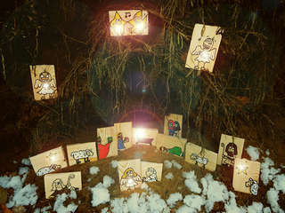 Weihnachtskrippe - Weihnachten, Jesus, Jesu, Geburt, Maria, Josef, Engel, Hirten, Schafe, Weihnachtsstern, Heilige drei Könige, 3 Weise, Morgenland, Krippe, Stall, Winter, christmas, xmas, Heiland, von Nazareth, Bethlehem, Lukas