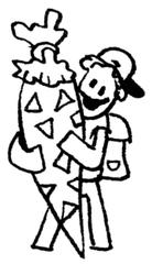 Kind mit Schultüte II - Comic, Cartoon, Ausmalbild, Schule, Schultüte, Einschulung, Zuckertüte, erster Schultag