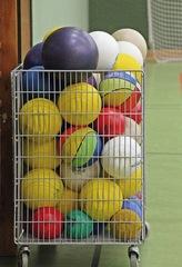 Bälle - Ball, Sportgerät, Bälle, rund, rollen, Sport, Gerät, Freizeit, spielen, Kugel, Ballwagen