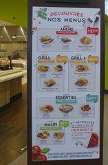 Anzeigetafel MENUS - menu, grill, dessert, bavette, burger