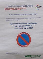 Manifestation - Demonstration - Dijon, manifestation, assurer, sécurité, publique, mesures, spéciales