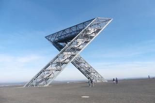 Saarpolygon Bild 1 - Architektur, Wahrzeichen, Stahlkonstruktion, Bergehalde, Symbol, Polygon