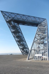 Saarpolygon Bild 5 - Architektur, Wahrzeichen, Stahlkonstruktion, Bergehalde, Symbol, Polygon
